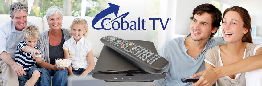 Cobalt DVR with families watching TV.